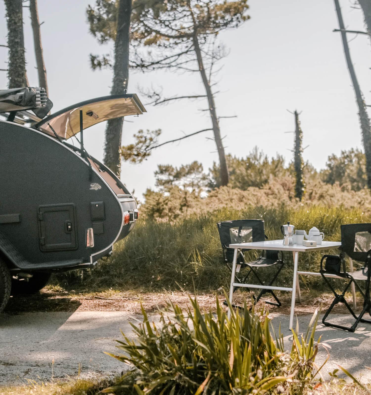 la grande ourse Table de camping inox